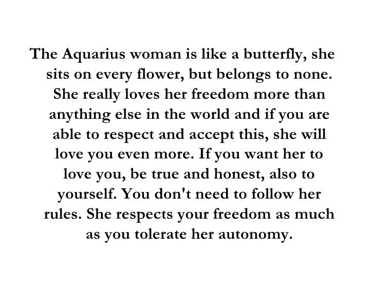 How to know when an aquarius woman loves you
